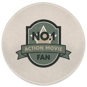 No.1 Action Movie Fan Round Bath Mat