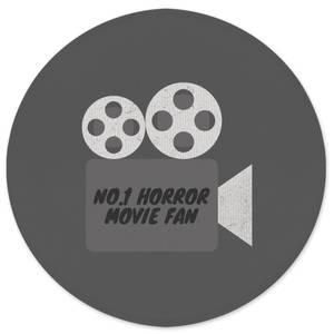 No.1 Horror Movie Fan Round Bath Mat