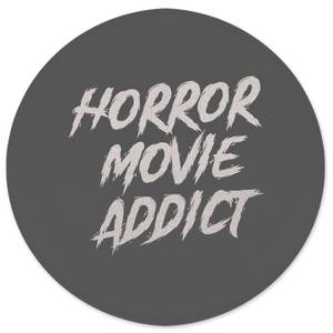 Horror Movie Addict Round Bath Mat