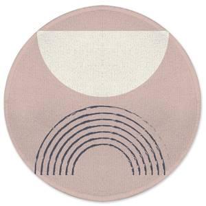 Retro Half Circle Round Bath Mat