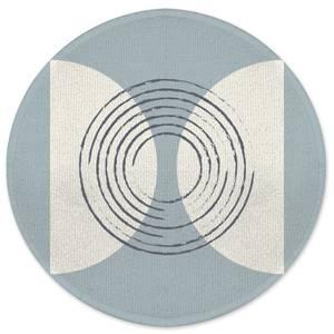 Linear Circles Round Bath Mat