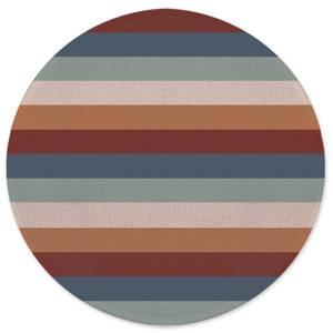 Winter Retro Stripes Round Bath Mat