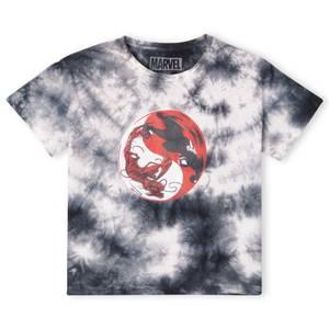Venom Carnage Ying Yang Women's Cropped T-Shirt - Black Tie Die