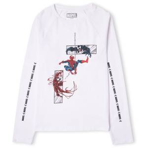 Venom Comic Panel Unisex Long Sleeve T-Shirt - White