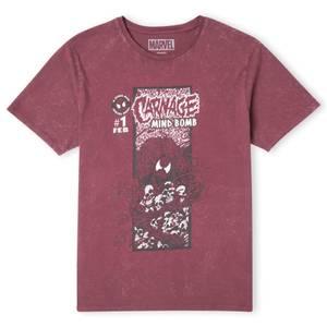 Venom Carnage Comic Unisex T-Shirt - Burgundy Acid Wash