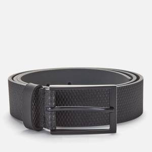 BOSS Men's Structured Leather Belt - Black
