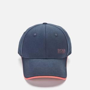 BOSS Athleisure Men's Logo Print Cap In Cotton Twill - Navy