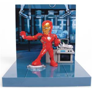 The Loyal Subjects Superama Marvel Comics Figural Diorama - Iron Man