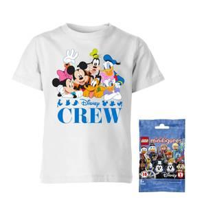 Disney Tee & LEGO Minifigure Bundle Men's T-Shirt - White