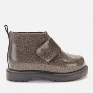 Mini Melissa Toddler's Mini Chelsea Boots - Black glitter