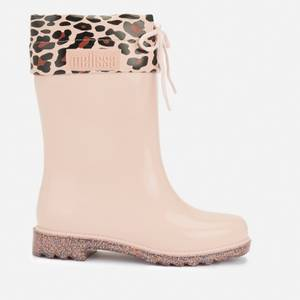 Mini Melissa Kids' Rain Boots Print - Blush Glitter