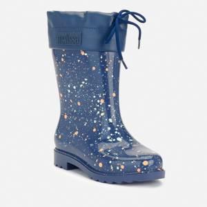 Mini Melissa Kids' Rain Boots Print - Navy Fleck