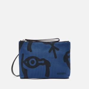 KENZO Women's Arc Clutch On Strap Bag - Blue