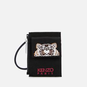 KENZO Women's Kampus Canvas Strap Card Holder - Black