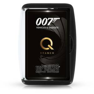 Top Trumps Card Game - James Bond Gadgets and Vehicles (Q Branch) Edition