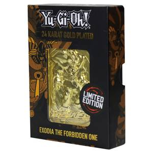 24K Gold plated Yu-Gi-Oh!Exodia -The Forbidden One Card