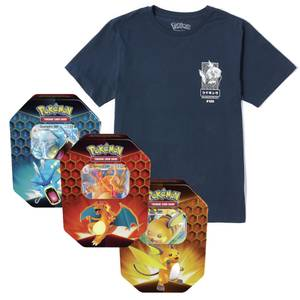 Pokémon Magikarp T-Shirt & Pokémon TCG: Hidden Fates Tin Bundle