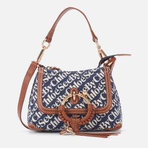 See by Chloé Women's Recycled Mini Joan Signature Denim Cross Body Bag - Royal Navy