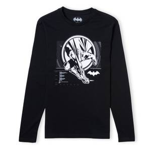 Batman Action Unisex Long Sleeve T-Shirt - Black
