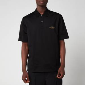Salvatore Ferragamo Men's Short Sleeve Polo Shirt - Black