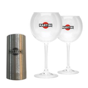 Martini Balloon Glass and Jigger