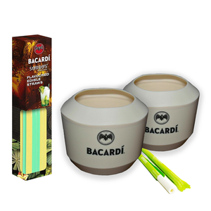 Bacardi Coconut Cups and Edible Straws