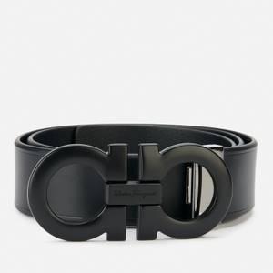 Salvatore Ferragamo Men's Adjustable Gancini Belt - Black