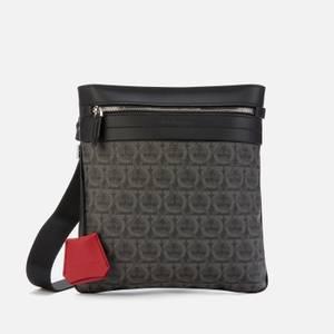 Salvatore Ferragamo Men's Gancini Shoulder Bag - Black/Grey