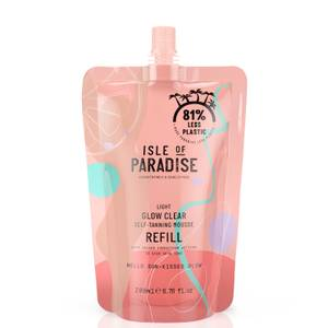 Isle of Paradise Glow Clear Self-Tanning Mousse Refill - Light 200ml