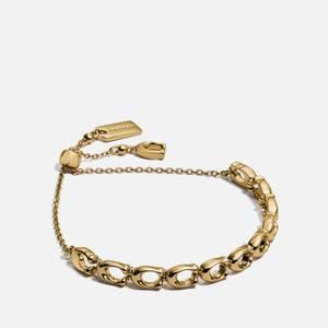 Coach Women's C Chain Link Frienship Bracelet - Gold