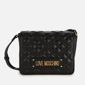 Love Moschino Women's Quilted Flap Shoulder Bag - Black