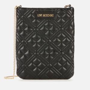 Love Moschino Women's Quilted Chain Phone Cross Body Bag - Black