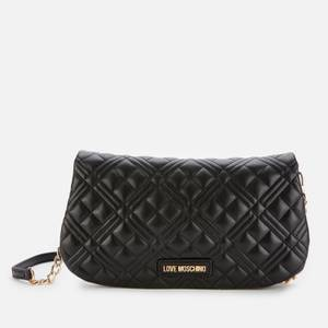 Love Moschino Women's Quilted Chain Shoulder Bag - Black