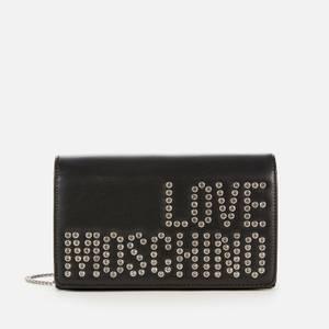 Love Moschino Women's Stud Logo Chain Bag - Black