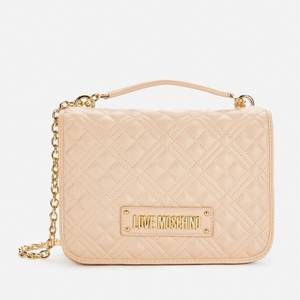 Love Moschino Women's Classic Quilted Shoulder Bag - Nude