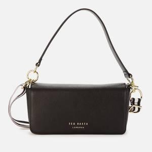 Ted Baker Women's Ammie Branded Webbing Strap Box Shoulder Bag - Jet-Black