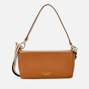 Ted Baker Women's Ammie Branded Webbing Strap Box Shoulder Bag - Brown