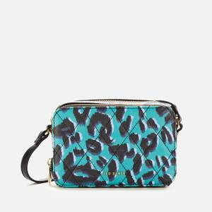 Ted Baker Women's Quiltt Quilted Leopard Detail Camera Bag - Olive
