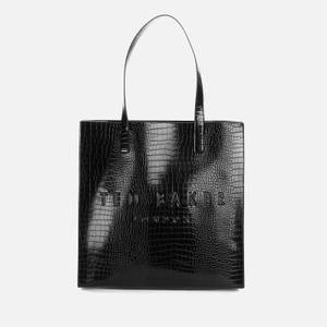 Ted Baker Women's Croccon Croc Detail Large Icon Bag - Black