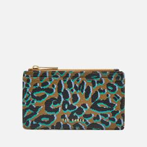 Ted Baker Women's Nejla Leopard Detail Zip Card Holder - Olive