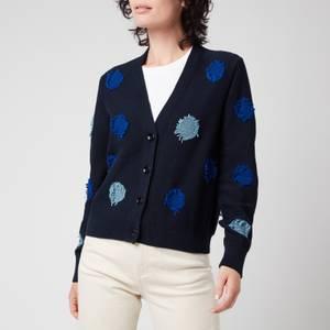 PS Paul Smith Women's Tagliatelle Spot Knitted Cardigan - Blue