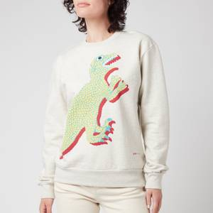 PS Paul Smith Women's Large Dino Printed Sweatshirt - White