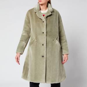 PS Paul Smith Women's Faux Fur Coat - Green