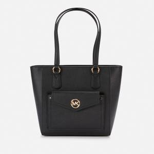 MICHAEL Michael Kors Women's Joey Md Pocket Tote Bag - Black