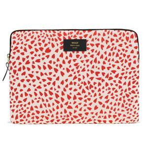 """Wouf 13"""" Laptop Case - White Hearts"""