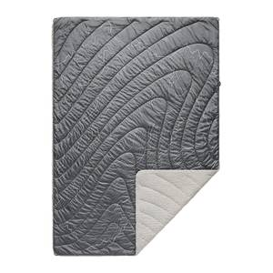 Rumpl Printed Sherpa Puffy Blanket - Mount Hood - Granite