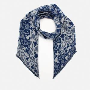 Vivienne Westwood Women's Two Point Silhouette Orb Scarf - Night Blue