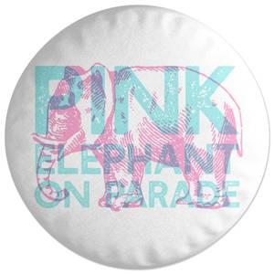 Pink Elephant Round Cushion