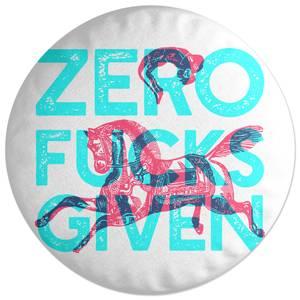 Zero Fuck Givens Round Cushion