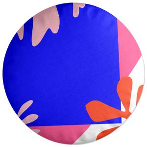 Bright Coloured Leaves Round Cushion